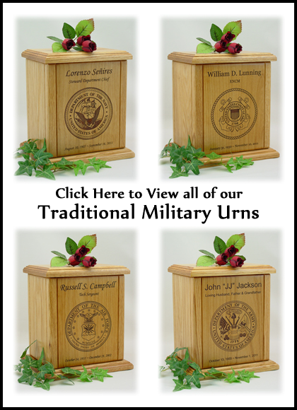 Traditional Military Urns