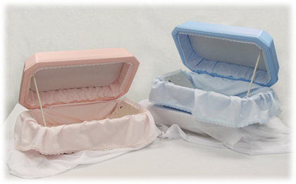 Traditional Pink and Blue Pet Caskets