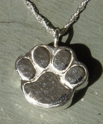 Sterling silver pet cremation jewelry pawprint pet cremation jewelry aloadofball Choice Image
