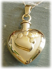 Paw Heart Pet Cremation Jewelry