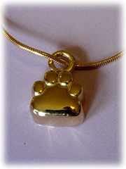 Paw Print Pet Cremation Jewelry