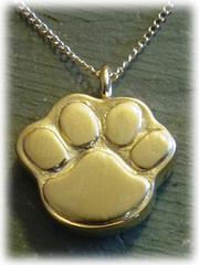Pawprint Pet Cremation Jewelry