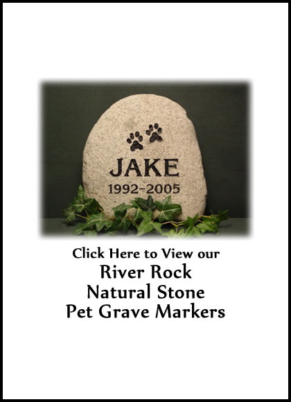 Natural Stone Pet Grave Markers Granite Pet Grave Markers