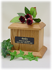 Economy Pet Urn - Small - Natural W/Plate